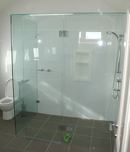 Interior bathroom doors with glass - Frameless Shower Screens Precision Shower Screens
